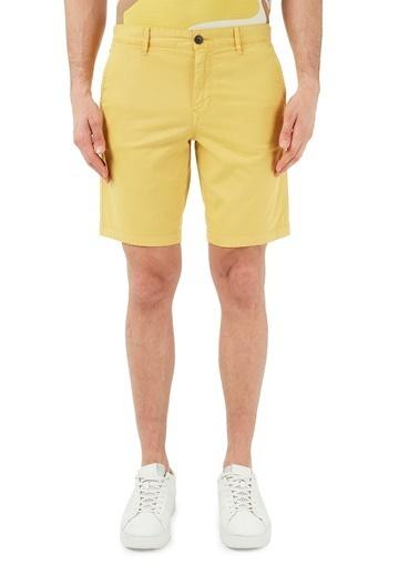 Hugo Boss  Pamuklu Slim Fit Short Erkek Short 50447772 736 Sarı